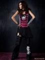 Black Gothic Skirt Splicing Pants