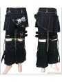 Women Gothic Punk Three-piece Pant-skirt
