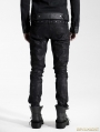 Black Gothic Male Rivet Side Decorated Jeans