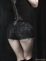 Women Gothic Black Snakeskin Pattern Hot Pants
