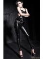 Gothic Punk Women PU Leather Pencil Pants
