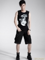 Gothic Punk Men Fifth-Trousers Hand-painted