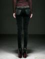 Women Black Gothic Corduroy Basic Pencil Pants