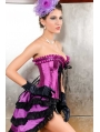 Purple Lace Overbust Burlesque Corset Dress