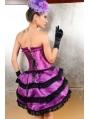 Purple Lace Overbust Burlesque Corset Dress