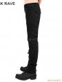 Black Gothic Punk Men Basic Pants