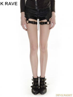 Steampunk Women High Waist Short Shorts