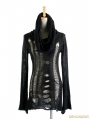 Black Gothic Hollow Hoodie Sweather For Women
