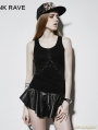 Gothic Dark Basic Rivet Vest For Women