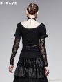 Romantic Gothic Black and Violet Two Wear T-shirt for Women