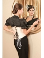 Victorian Underbust Waist Training Corset with Black Lace