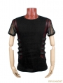 Black Gothic Punk Personality T-shirt For Men