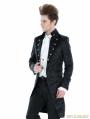 Black Gothic Palace Style Long Jacket For Men