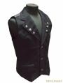 Black Gothic Military Style Vest For Men