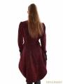 Red Gothic Palace Style Velvet Coat For Women