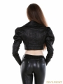 Black Gothic Midriff Top For Women