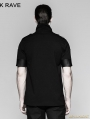 Black Gothic Military Uniform Sniper T-Shirt for Men