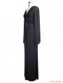 Black Gothic Persephone Maxi Dress