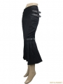 Black Gothic Military Uniform Style Pencil Skirt