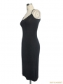 Black Gothic Dress with Sexy Back