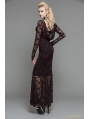 Red Lace Romantic Gothic Long Dress