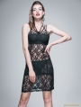 Black Gothic Sleeveless Lace Bella Dress