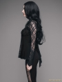 Black Romantic Gothic Lace Shirt for Women