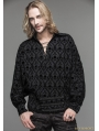 Black Gothic Medieval Style Shirt for Men