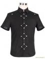 Black Gothic Punk Short Sleeves Shirt for Men