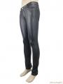 Black Gothic Stripe Trousers for Men