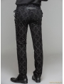 Black Gothic Vintage Palace Pattern Trousers for Men