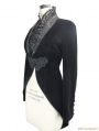 Black Velvet Gothic Swallow Tail Jacket for Women