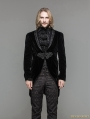 Black Velvet Gothic Swallow Tail Jacket for Men