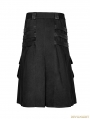 Black Gothic Dark Series Metal Warrior Skirt for Men