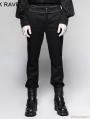 Black Gentleman Steampunk Striped Trousers for Men
