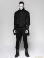 Black Gentleman Steampunk Striped Trousers for Men