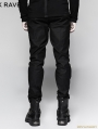 Black Gothic Military Uniform Male Trousers