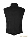 Black Gothic Heavy Punk Corn Vest for Men