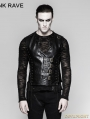 Black Gothic Bandage Mechanical Steampunk Waistcoat for Men
