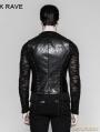 Black Gothic Bandage Mechanical Steampunk Waistcoat for Men