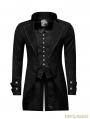 Black Gothic Gentleman Steampunk Fake Two-pieces Jacket for Men