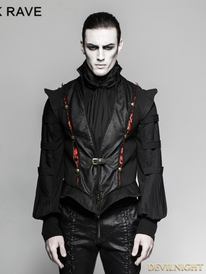 Black Gothic Century Palace Luxury Vest for Men