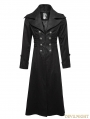 Black Gentleman Steampunk Stripe Long Coat for Men