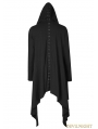 Black Gothic Dark Decadence Knitted Mens Coat with Hood