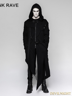 Black Gothic Darkly Punk Jacket for Men