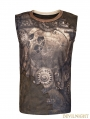 Coffee Steampunk Digital Printing Sleeveless T-shirt for Men