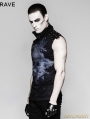 Blue Gothic Punk Skull Backless Ghost T-shirt for Men