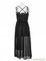 Black Gothic Vintage Ballerina Two-pieces Sun Dress