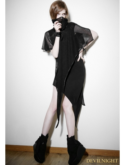 Black Gothic Punk Detachable Two-Piece Dress