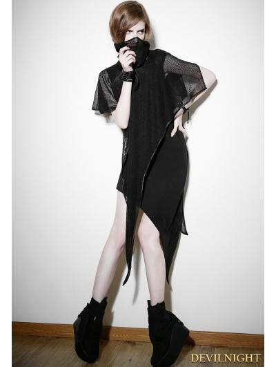 Black Gothic Punk Detachable Two-Piece Dress